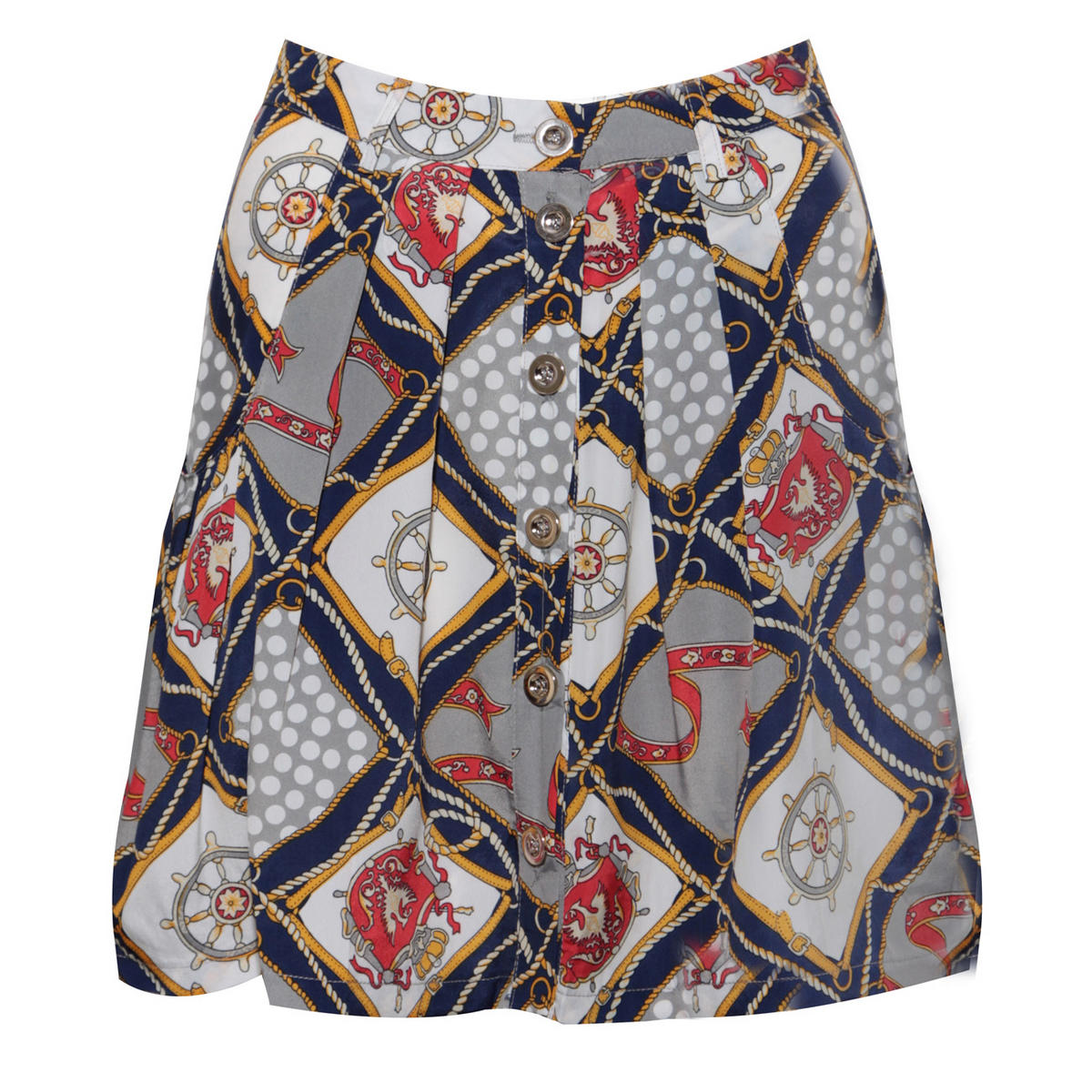 Nautical Print Pleat Skirt Preview
